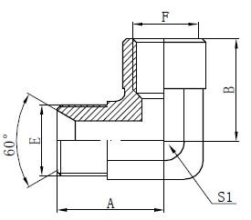 رسم تركيبات محول الكوع BSP