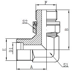رسم محولات الكوع الهيدروليكية