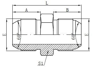 رسم JIS لمحولات ذكر متري